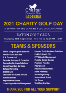 Annual Charity Golf Day Teams and Sponsors