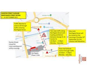 Chester Northgate Update - Hunter Street closed